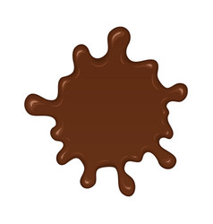 Chocolate splash blot vector