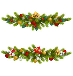 christmas fir decoration vector image