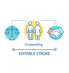co-parenting concept icon vector image