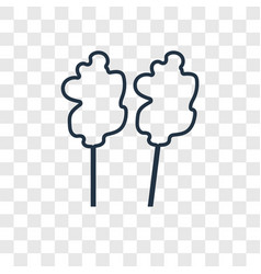 cotton candy concept linear icon isolated on vector image