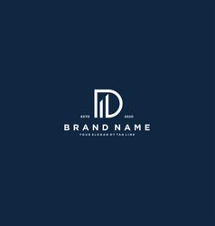 Creative letter d financial chart logo design vector
