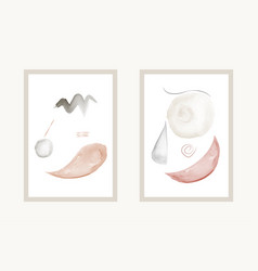 Creative minimal art with watercolor hand painted vector