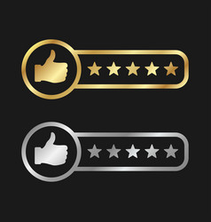 customers ratings gold and silver vector image