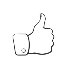 doodle thumb up symbol like vector image