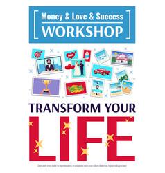 Dreams workshop poster vector