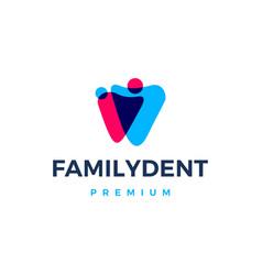 Family dental logo icon vector