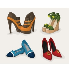 fashion womans shoes collection vector image