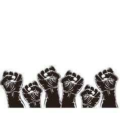 fist for revolution vector image