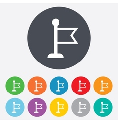 Flag pointer sign icon Marker symbol vector image