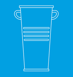 garbage tank with handles icon outline style vector image