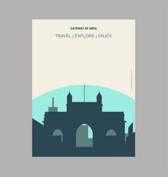 Gateway of india maharashtra india vintage style vector