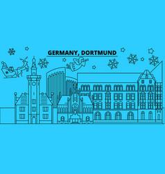 germany dortmund winter holidays skyline merry vector image
