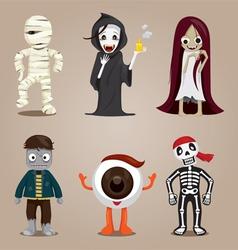 Halloween Ghost Character Design Set vector