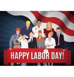 Happy Labor day american banner concept design vector