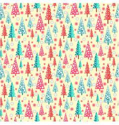 happy new year background with firs vector image