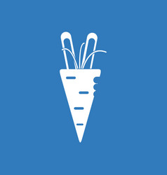 Icon turnip plant vector