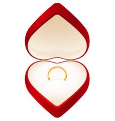 jewelry box heart vector image