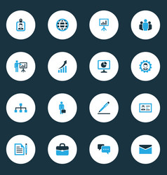Job colorful icons set collection of presentation vector