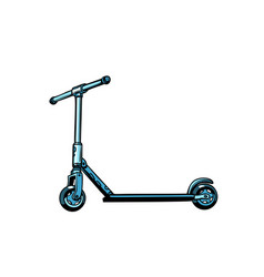 kick scooter youth transport vector image