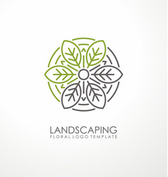 landscaping logo design vector image