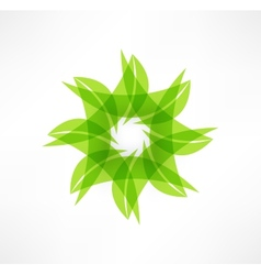Leaf icons Eco concept Logo design vector image