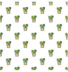 Love cactus pattern seamless vector