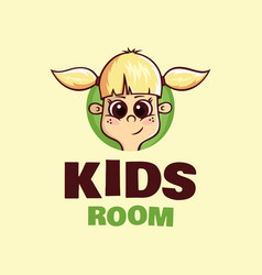 modern professional logo kids room in yellow vector image