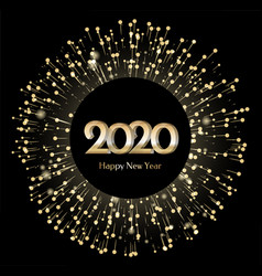 new year 2020 greeting banner celebration vector image