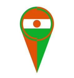 Niger map pointer location flag vector