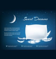 Night dream pillow poster vector