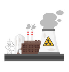 old nuclear power plant vector image