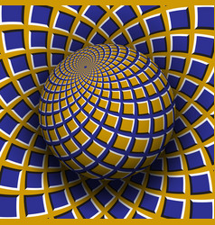 Optical illusion yellow blue vector