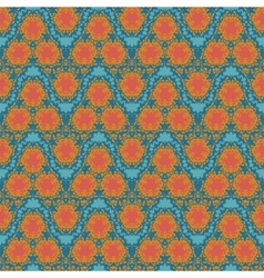 Orange wave textile squiggles seamless pattern vector