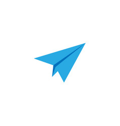 paper plane icon graphic design template vector image