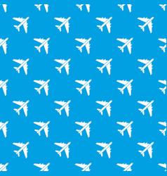 Passenger airliner pattern seamless blue vector