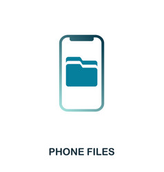 phone files icon flat style icon design ui vector image