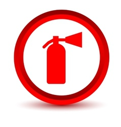 Red fire extinguisher icon vector image