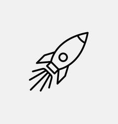 Rocket icon logo design startup symbol simple flat vector