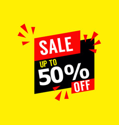 sale up to 50 off template design vector image