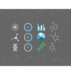 Science icons and chemical element formulas vector image
