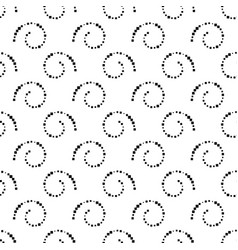 seamless black and white background from spirals vector image