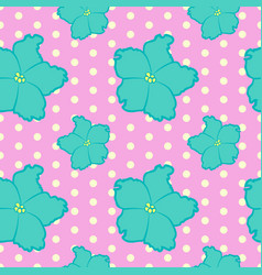 seamless floral pattern with blue violet flowers vector image
