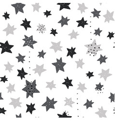 seamless monochrome pattern with stars creative vector image