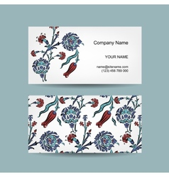 Set of business cards design turkish ornament vector image