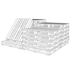 Set of pallets vector