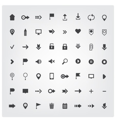 set of web universal icons vector image