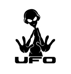 sign of space alien vector image