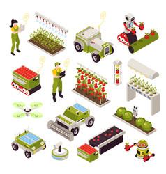Smart farm icon set vector