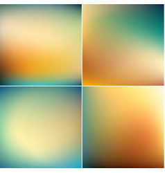 smooth colorful blurry backgrounds collection vector image