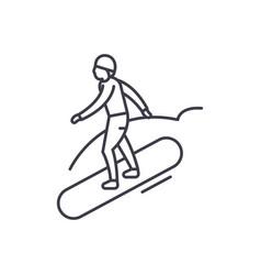 Snowboard line icon concept snowboard vector